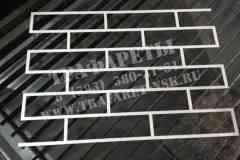 Трафарет Кирпичная кладка. Трафареты для имитации объемной кирпичной кладки. АКРИЛ 3 мм