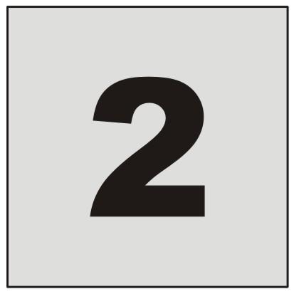 Комплект трафаретов цифр, размером 50мм, 10 шт, от 0 до 9