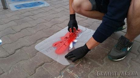 Реклама на асфальте как сделать трафарет своими руками 86