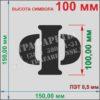 Алфавит Русские буквы, цифры, и знаки препинания 60 символов, 100 мм, пластик ПЭТ 0,5 мм, лазерный рез
