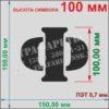 Алфавит Русские буквы, цифры, и знаки препинания 60 символов, 100 мм, пластик ПЭТ 0,7 мм, лазерный рез
