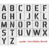 Набор трафаретов Алфавит английский 150 мм, пластик ПЭТ, лазерный рез