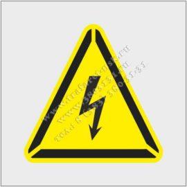 Трафарет Осторожно электрическое напряжение, два трафарета