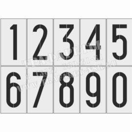 Комплект трафаретов для нанесения цифр на пикетные путевые знаки, 150 мм, ПЭТ