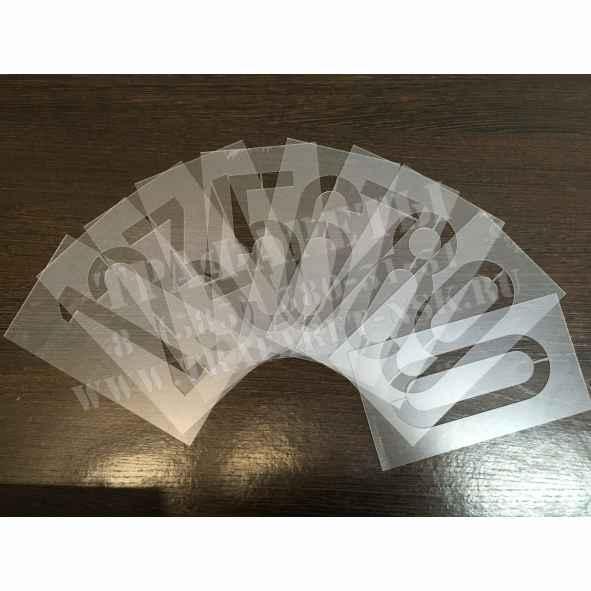 Трафареты цифр порядковых номеров на Путевом пикетном знаке