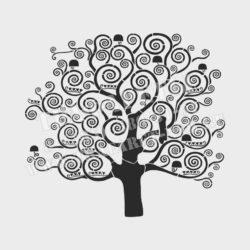 Трафарет для стены Картина Древо жизни, Густав Климт. Трафареты для декорирования стен. Трафареты для штукатурки.