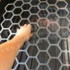 Трафарет Соты средние, ячейка 80 мм, шов 9 мм, сетка 7х7, ПЭТ 2 мм, Акрил 2 мм, лазерный рез