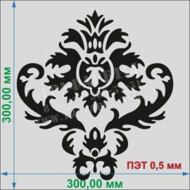 Трафарет для стен, узор - винтажные элементы ПЭТ 0,5 мм