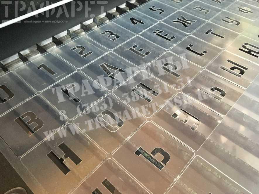 Трафарет алфавит и цифры. Наборы трафаретов.