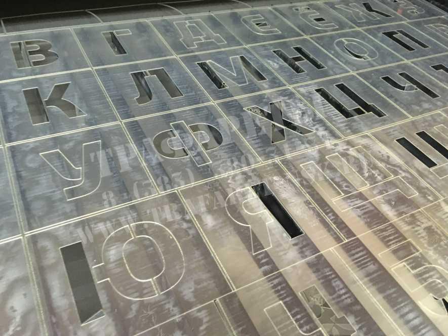Трафарет букв. Изготовление трафаретов из пластика, буквы и цифры