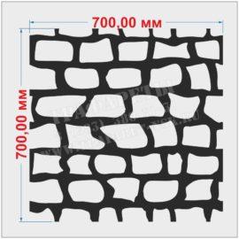 Трафарет декоративный камень 700 мм х 700 мм, ПЭТ 2 мм, Акрил 2 мм, лазерный рез 2