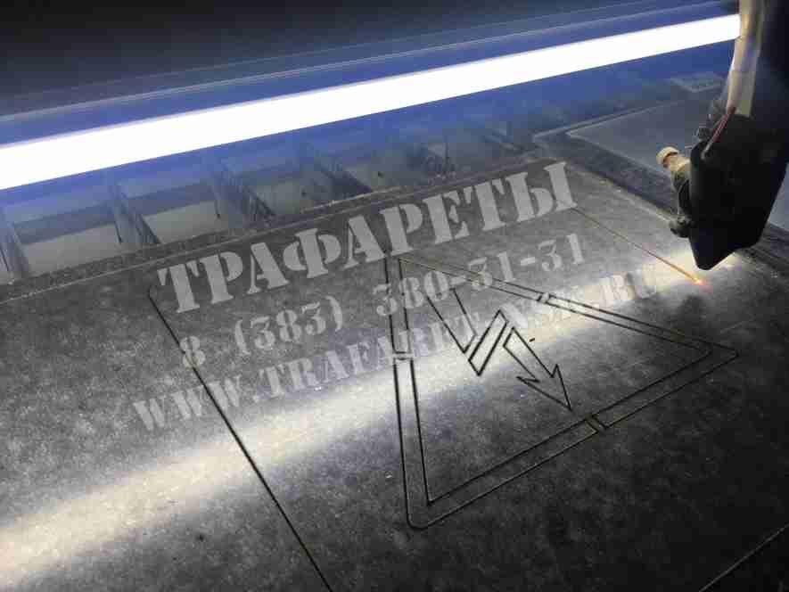 Трафарет магнитно-пластиковый для нанесения энергознаков на ТП, РП