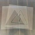 Трафарет Осторожно электрическое напряжение, Молния, трафарет предупреждающий об опасности электрического напряжения