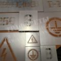 Трафареты набор энергознаков, пластик ПЭТ, лазерный рез